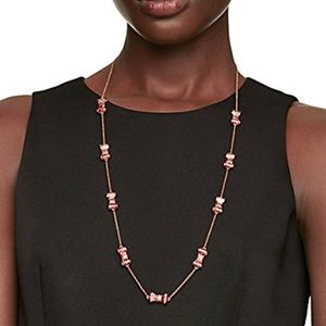 Kate Spade Rose Gold Glitter Bow Scatter Necklace
